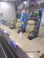 Câmara de Rio Branco realiza desinfecção na sede