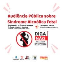 Câmara de Vereadores promove audiência pública sobre Síndrome Alcóolica Fetal