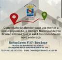 COMUNICADO - Novo endereço da Câmara Municipal de Rio Branco
