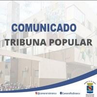 COMUNICADO - TRIBUNA POPULAR