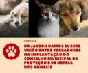 Dr Jakson Ramos sugere união entre vereadores na implantação do Conselho Municipal de Proteção e de Defesa dos Animais