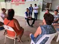 Jarude dialoga com lojistas do Mercado Municipal Luiz Galvez