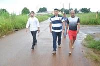 Presidente da Câmara Manuel Marcos fiscaliza bairro Rui Lino III
