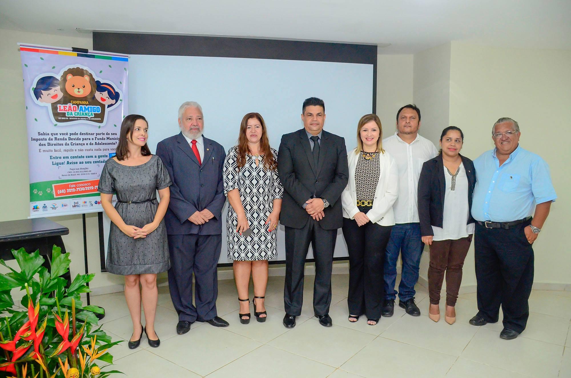 Presidente Manuel Marcos participa do lançamento Campanha Leão Amigo da Criança