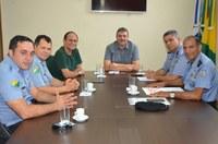 Vereador Dankar, secretário Moisés Diniz e coordenadores do Proerd se reúnem para debater demandas do programa