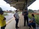 Vereador João Marcos Luz visita terminais de integração dos ônibus e critica funcionamento