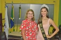 Vereadora Lene Petecão recebe visita da Miss Acre 2019, Sayonara Moura