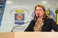 Violência contra mulher, aniversário da Seis de Agosto e inauguração do PS foram temas abordados por Lene Petecão na tribuna da Câmara